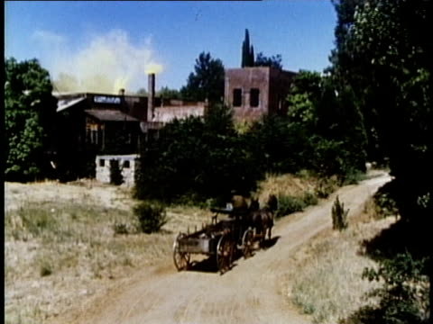 1850s reenactment montage gold prospectors returning to california and finding large mine facility, usa, audio - gold rush stock videos and b-roll footage