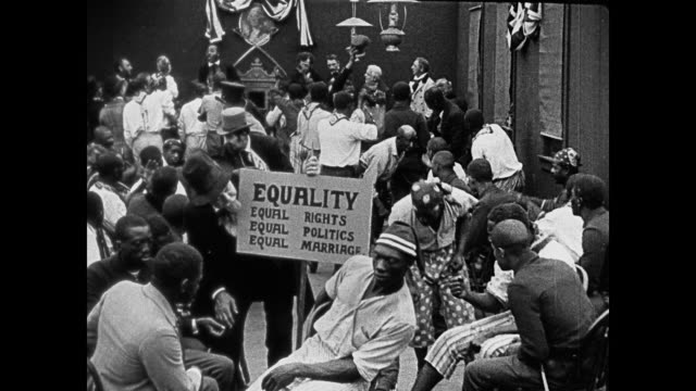 stockvideo's en b-roll-footage met 1860s a post-civil war meeting for equal rights - racisme