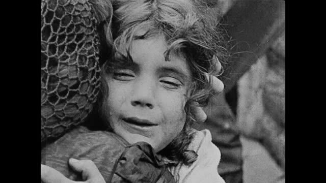 1860s a scared child cries - 1915年点の映像素材/bロール