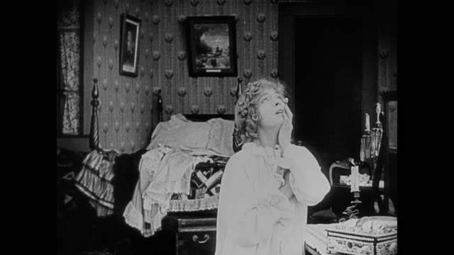 1860s a woman is distraught in her bedroom - nightdress stock videos & royalty-free footage