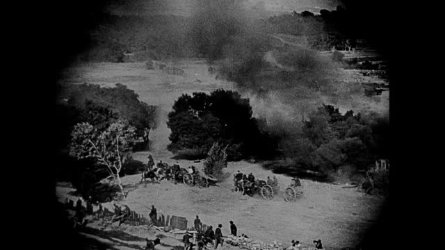 1860s Union and confederate armies in civil war battle