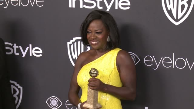 vídeos de stock, filmes e b-roll de clean 18th annual instyle and warner bros pictures golden globes afterparty at the beverly hilton hotel on january 8 2017 in beverly hills california - viola davis