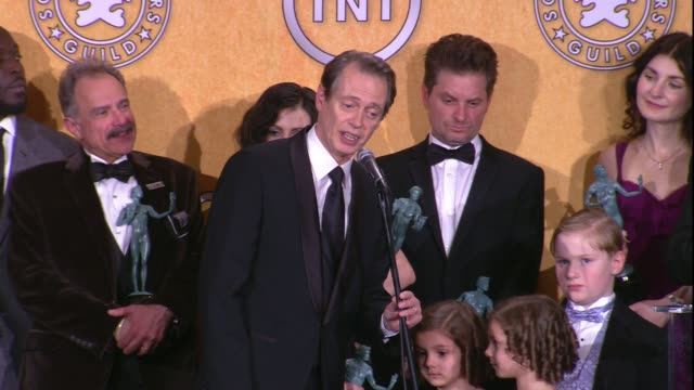 18th annual screen actors guild awards press room los angeles ca united states 1/29/12 - steve buscemi stock videos & royalty-free footage