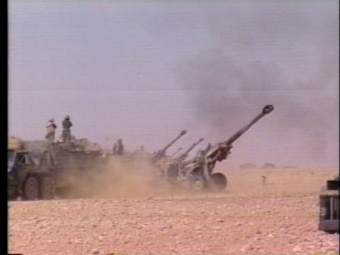18th field artillery soldiers fire a howitzer. - howitzer stock videos & royalty-free footage