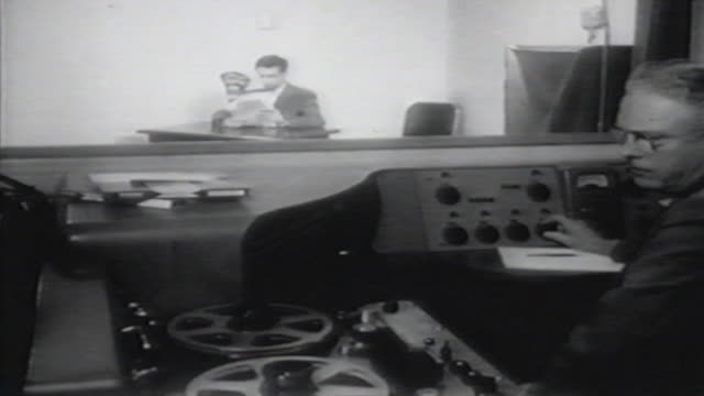 1900s b/w montage early radio broadcasters at work / united states - radio broadcasting stock videos & royalty-free footage
