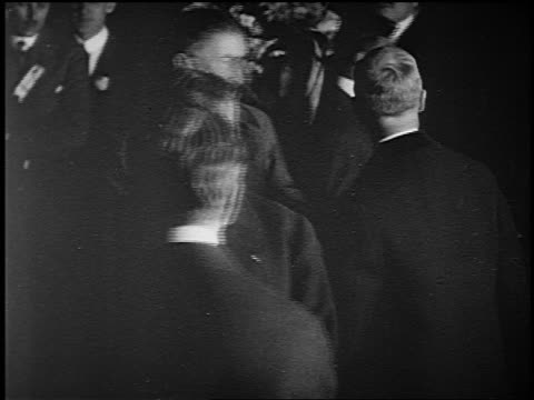 b/w 1900s/10s high angle theodore roosevelt surrounded by people shaking hands - theodore roosevelt us president stock videos & royalty-free footage