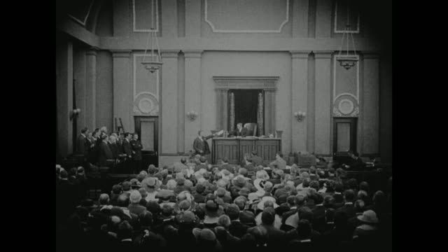 1910s a jury delivers their verdict to a judge - legal trial stock videos & royalty-free footage