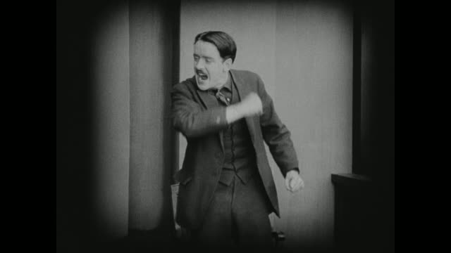 1910s a man on trial insists he is innocent - 無声映画点の映像素材/bロール