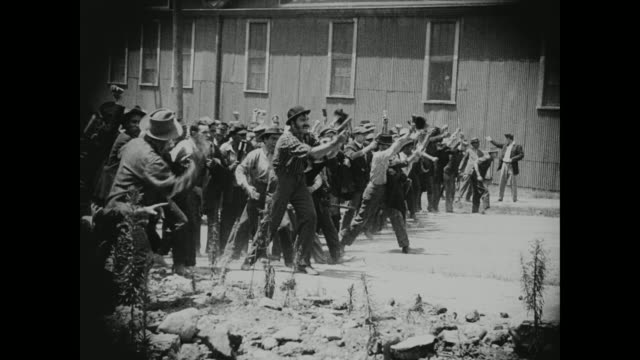 1910s A standoff takes place between striking employees and the military