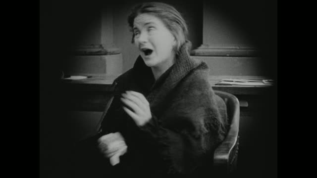 1910s a woman has an extreme reaction to her husbands sentencing - silent film stock videos & royalty-free footage
