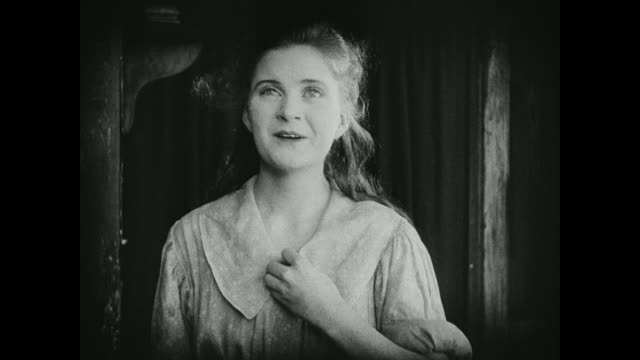 1910s a young women is in awe - facial expression stock videos and b-roll footage