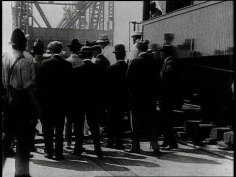 1910s b/w president taft disembarking a train near the panama canal / panama - panama canal stock videos & royalty-free footage