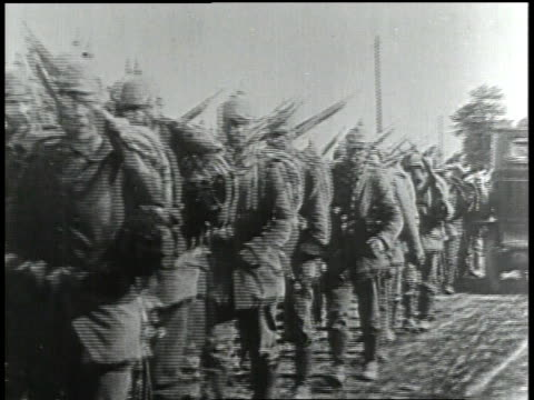 1910s german soldiers marching - german military stock videos & royalty-free footage