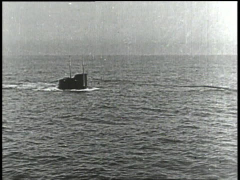 1910s WS German submarine emerging from water