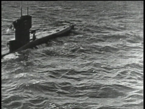 1910s german u-boat on top of water - german culture stock videos & royalty-free footage