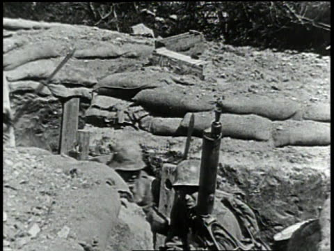 1910s montage soldiers running through trench and more jumping in - trench stock videos & royalty-free footage