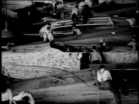 1910s montage workers in assembly plant manufacturing curtis htype flying boats / united states - glenn h. curtiss stock videos and b-roll footage