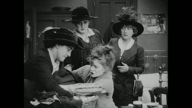 1910s nosey, wealthy women attempt to take a poor woman's child - neighbor stock videos & royalty-free footage