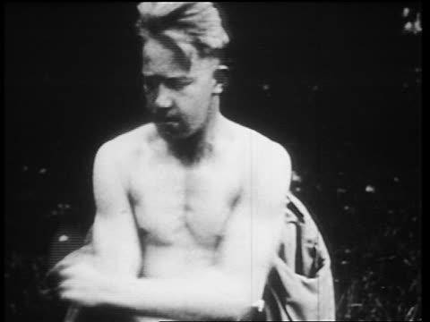 b/w 1910s shellshocked world war i veteran twitching uncontrollably / newsreel - world war one stock videos & royalty-free footage