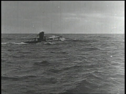 1910s WS submarine sticking out of water