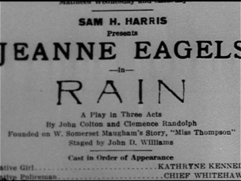 broadway theatre cu advertisements for plays 'the song and dance man' dramatic comedy 'rain' drama 'they knew what they wanted' comedy 'sally'... - broadway manhattan stock videos and b-roll footage