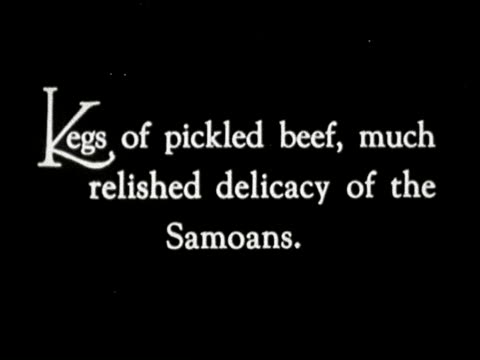 stockvideo's en b-roll-footage met 1920s b/w/ montage samoan wedding guests bring food in barrels and begin to cut up pickled beef / samoa south seas - samoa