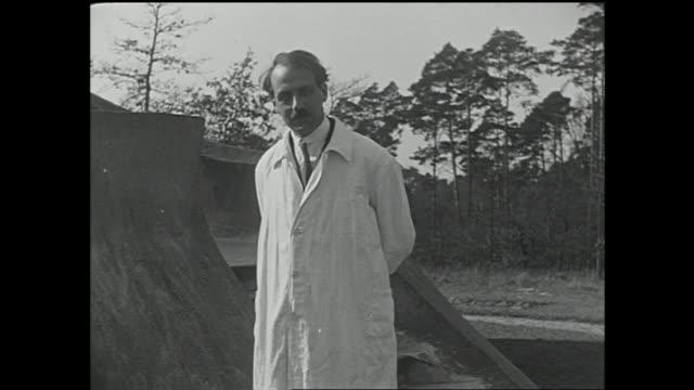 EINSTEINTURM HD *German astronomer amp Einstein associate Erwin Finlay Freundlich dressed in lab coat standing in front of Einstein Tower...