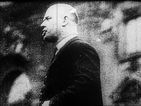 b/w 1920s german communist leader making speech / documentary - one mid adult man only stock videos & royalty-free footage
