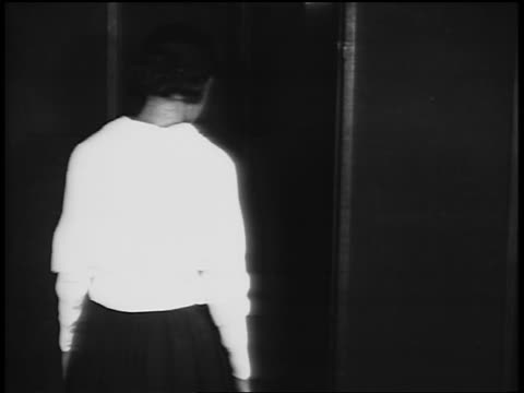 b/w 1920s girl uniform / sailor suit in vocational school / newsreel - uniform stock videos & royalty-free footage