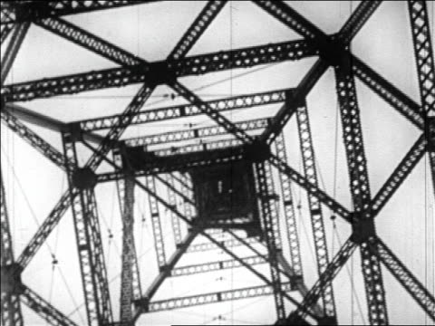 b/w 1920s low angle close up radio antenna tower / virginia - mast stock videos & royalty-free footage