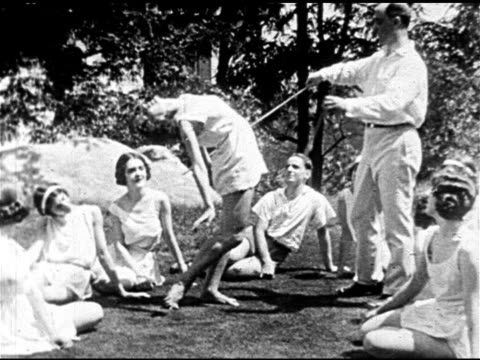 modern ballet russian choreographer dancer michel fokine working w/ female dancing students outside russian expatriates ballerina anna pavlova... - russian ballet stock videos and b-roll footage