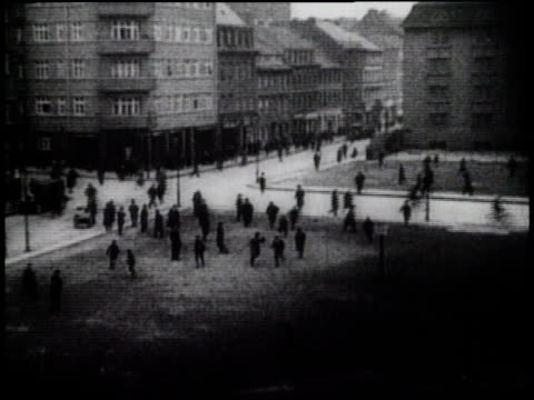 1920s montage people running in the streets and gathering in large groups - crowd running scared stock videos & royalty-free footage