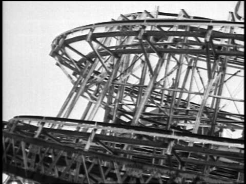 "b/w 1920s ""top"" rotating ride at coney island / nyc / newsreel - coney island brooklyn stock videos & royalty-free footage"