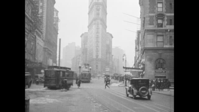 1920s traffic in new york city - 1920 stock videos & royalty-free footage