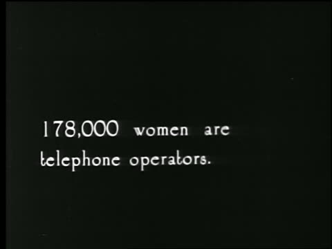 b/w 1920s woman supervises line of telephone switchboard operators / slate in middle of shot / news. - weibliche person stock-videos und b-roll-filmmaterial