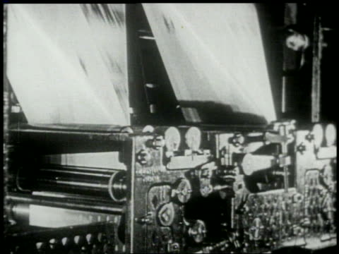 b/w 1920s/30s close up newspaper printing press - 1930 stock videos and b-roll footage
