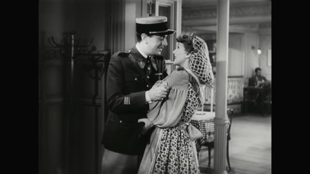 1930s a couple kiss goodbye - 1930 1939 stock videos & royalty-free footage