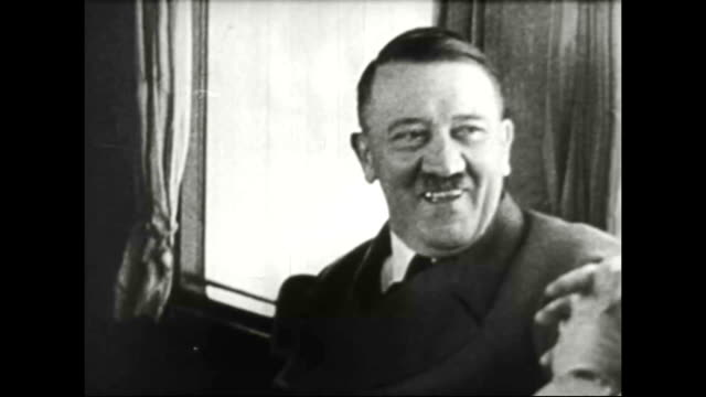 1930s adolf hitler smiling - adolf hitler stock-videos und b-roll-filmmaterial