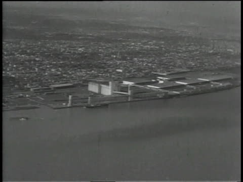 1930s aerial docks of new orleans on the mississippi river / louisiana, united states - 1930 stock videos & royalty-free footage