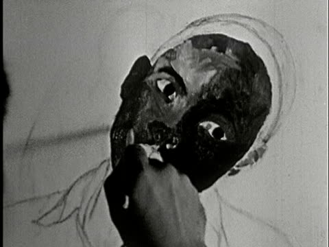 1930s b/w cu, artist painting on paper - artist stock videos & royalty-free footage