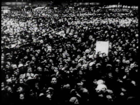 1930s bw josef goebbels speaks forcefully in german to crowd of thousands / germany - 1930 stock-videos und b-roll-filmmaterial