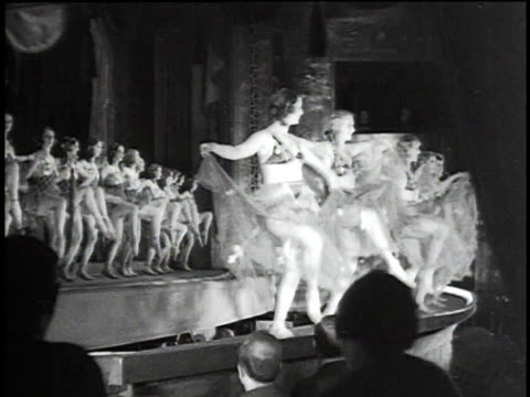 1930s montage chorus girls dancing on stage / berlin, germany - showgirl stock videos and b-roll footage