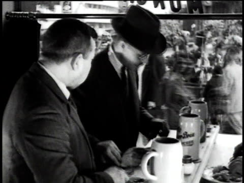 1930s montage people eating lunch in various places on street / berlin, germany - 1930 stock videos and b-roll footage