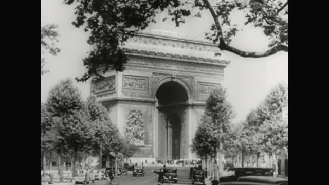 1930s paris scenics - 1930 1939 stock-videos und b-roll-filmmaterial