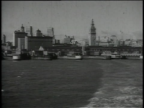 1930s ws sailing the san francisco bay / california, united states - san francisco bay stock videos & royalty-free footage