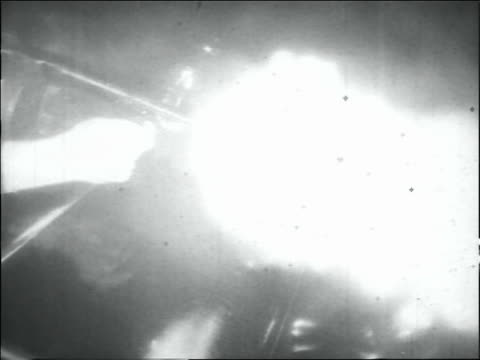 b/w 1930s tilt up police man shooting tommy gun - shooting crime stock videos & royalty-free footage