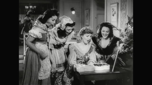 1930s woman (jean parker) receives a gift from hardy - 1930 1939 stock videos & royalty-free footage
