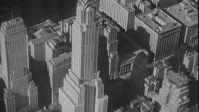1940s b/w chrysler building / new york city, new york, usa - chrysler building stock videos & royalty-free footage