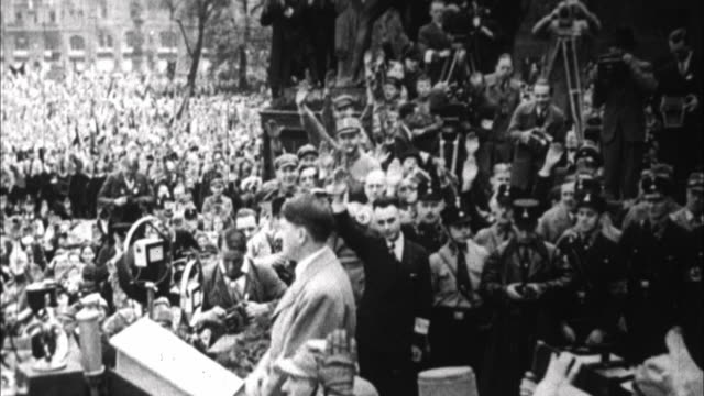 1940s b/w montage adolf hitler campaigns / germany - third reich stock videos & royalty-free footage