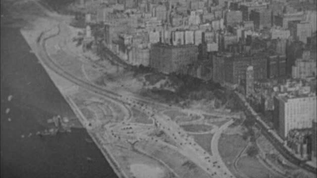 1940s b/w montage aerial traffic on highways / new york city, new york, usa - major road stock videos & royalty-free footage